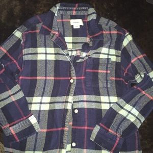 Girls L 10/12 Old Navy flannel